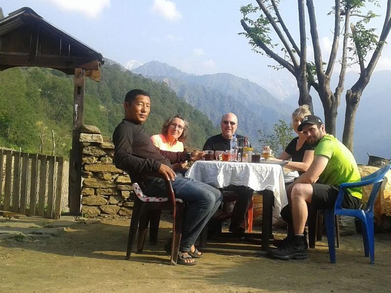 At a homestay in Laprak Village