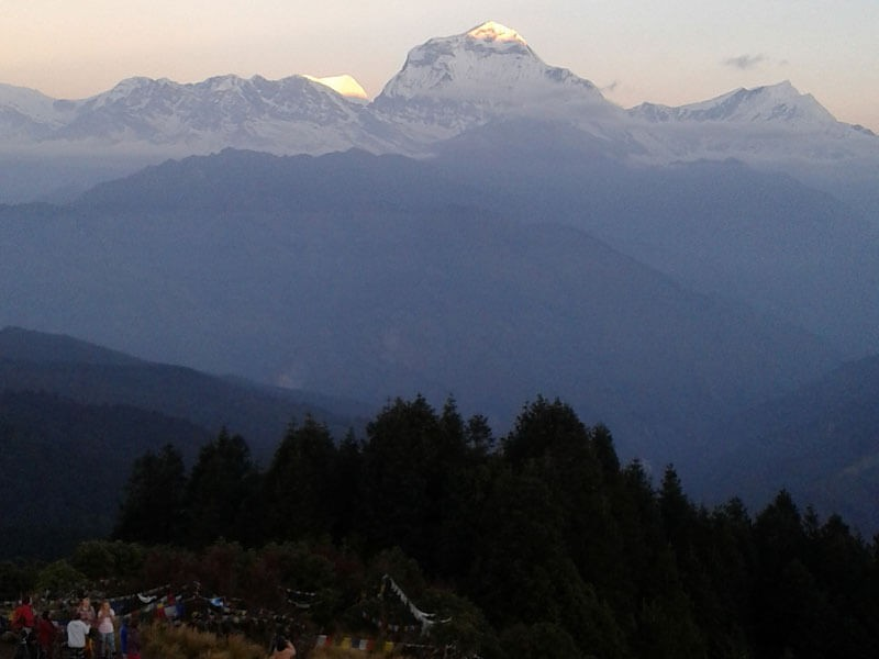 View of Dhaulagiri (8167 M) from Poon Hill