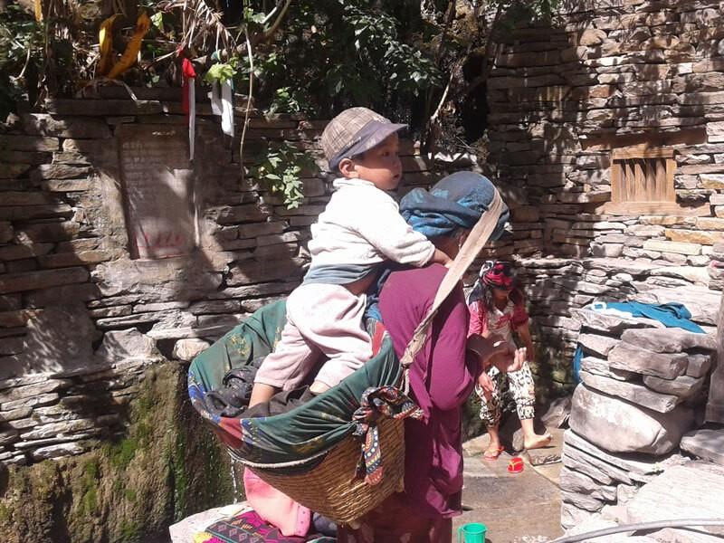 A typical Gurung woman, Tatopani
